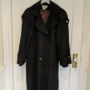 Vintage wool double breasted lined coat